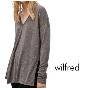 Aritzia WILFRED Sherbrooke Long Sleeve Top…